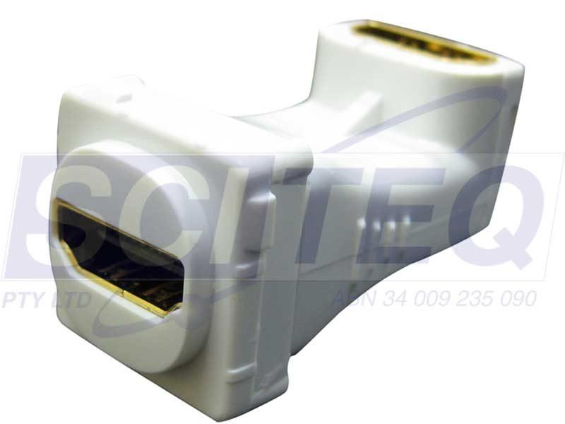 Digitek HDMI right angle insert for ganged wallplate