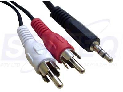 audio cable male to 2 rca male sciteq perth wa. Black Bedroom Furniture Sets. Home Design Ideas