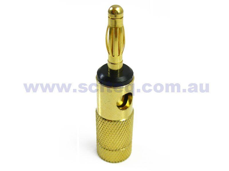 Banana Plug 4mm gold platedBlack