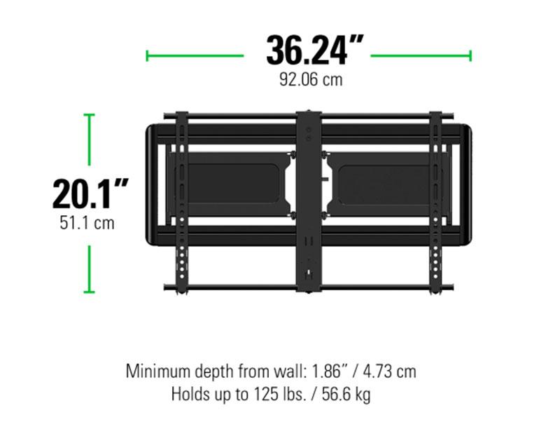 Sanus Vlf613 Super Slim Full Motion Tv Mount For 40 80